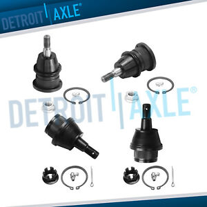 4pc Kit Front Upper And Lower Ball Joint Set For Torsion Bar Steel Control Arms