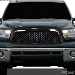 Topline For 2007 2009 Toyota Tundra Mesh Front Hood Bumper Grill Grille Black