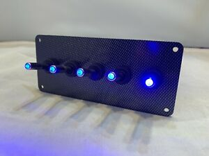 Led Toggle Switches Blue W Carbon Fiber Panel