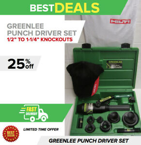 Greenlee Hydraulic Punch Driver Set 1 2 To 2 Conduit Size Fast Shipping