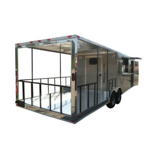 Concession Trailer 8 5 X 26 Beige Food Vending Event Catering
