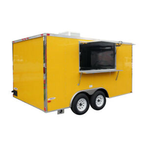 Concession Trailer 8 5 x14 Yellow Food Vending Event Catering