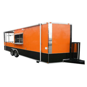 Concession Trailer 8 5 x24 Orange Vending Custom Trailer