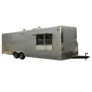 Concession Trailer 8 5 x24 Silver Custom Food Event Catering