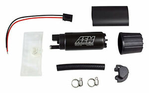 Aem High Flow 320lph In tank Fuel Pump Kit Offset Inlet Inline P n 50 1000