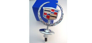 New Cadillac 2004 Dts Deville Gm Factory Chrome Hood Ornament In Stock