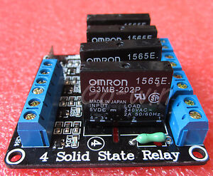 5pcs 5v 4 Channel Omron Ssr G3mb 202p Solid State Relay Module For Arduino
