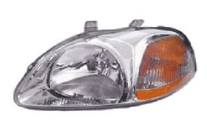 96 97 98 Honda Civic Driver Headlight New Headlamp