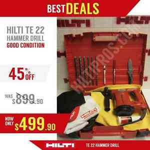 Hilti Te 22 Hammer Drill Good Condition Free Bits Extras Fast Shipping
