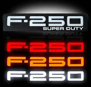 Ford Super Duty F250 Led Lighted Fender Emblems 2008 2009 2010 By Recon Black