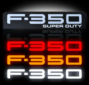 Ford Super Duty F350 Led Lighted Fender Emblems 2008 2009 2010 By Recon Black