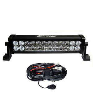 13 Inches 6000k Off Road 72w Cree Led Fog Lamp Work Light Bar Suv Jeep W relay