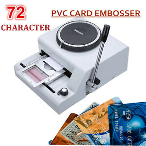 72 Character Letters Embossing Machine Manual Embosser Pvc Credit Card Stamping