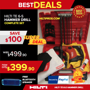 Hilti Te 6 s Preowned Strong W Free Bit Extras Fast Shipping