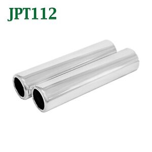 Pair 1 5 Pencil Exhaust Tips 1 1 2 Inlet 1 3 4 Outlet 8 Long Chrome Plated