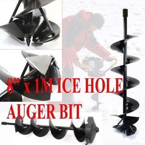 8 X 1m Ice Auger Hole Digger Bit Shaft 3 4 Bit Drilling Double Blade Fishing