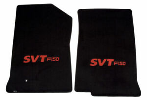 1999 2001 Ford F 150 Truck 2pc Black Front Floor Mats With Red Svt F150 Logo