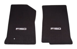 1999 2000 2001 Ford F 150 Truck 2pc Black Front Floor Mats Silver F150 Logo
