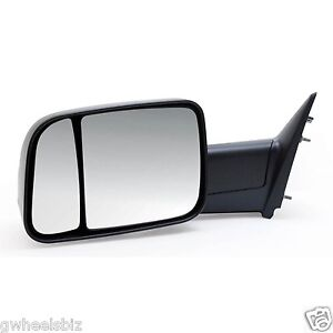 2009 2010 2011 2012 Dodge Ram 1500 Manual Towing Mirror Driver Left Side Lh