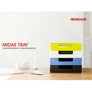 Lot Of 4 Paper Tray Document Organizer Midas Tray 2014 If Design Award 22150