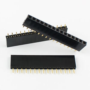 200pcs 2 54mm Pitch 15 Pin Female Single Row Straight Header Strip Ph 8 5mm