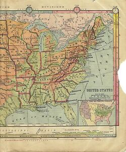 1896 Map Of United States