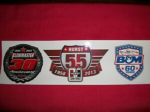 Flowmaster Exhaust Hurst B M Anniversary Sticker Decal Hot Rod Race Classic Car