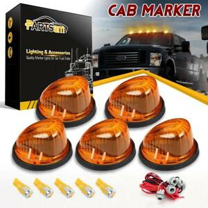5xclearance Cab Roof Round Lights 1313a 5730 Amber Led Bulbs wire For Chevy Gmc