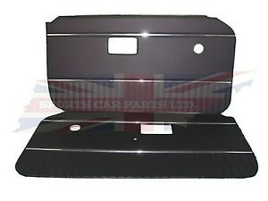 New Pair Of Black Door Panels With Chrome Strip For Mgb 1970 76 Uk Made Dp126a