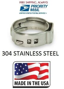 100 1 2 Stainless Steel Pex Clamps Cinch Rings For Crimp Style Pex Fitting