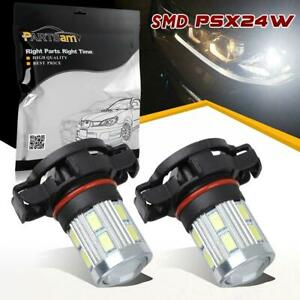 One Pair 2504 Psx24w 6000k High Power Led Bulbs Cree 5730 Smd Fog Driving Light