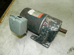 Subaki 15 1 Gear Motor 0 1 Kw Gmt010l15 4 Pole 460v 120 Rpm Output Used