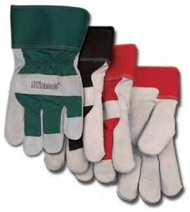Kinco Intl 3 pair 3 Medium Men Leather Palm Glove1932m Lined Leather Gloves New