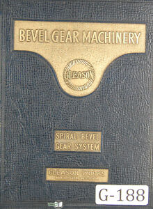Gleason Beveled Gear System Tooth Proportion 10 30 Per Pinion Manual 1935