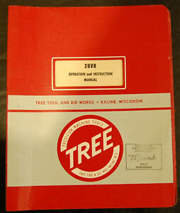 Tree 2uvr Mill Operations And Instructions Manual
