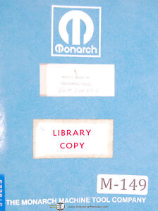 Monarch Series 10 Cnc Lathe Programming Manual Year 1967