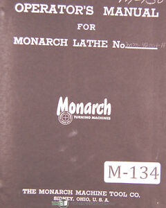 Monarch Monomatic 15 20 Lathe Operations Parts With B c Airgagetracer Manual