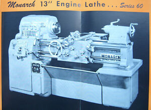 Monarch 13 Series 60 Lathe Operators Parts Manual