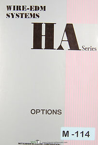Mitsubishi Ha Series Wire Edm Systems Options Manual
