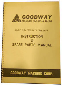 Goodway Gw 1622 1660 Instructions And Parts Manual