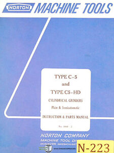 Norton Type C 5 And C5 hd Grinders Instructions And 1040 2 Parts Manual 1967