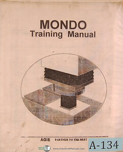 Elox Agie Mondo Training K Edm Manual 1996