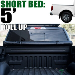 Lock Roll Soft Tonneau Cover For 2005 2019 Frontier Crew Cab Equator 5 Ft Bed