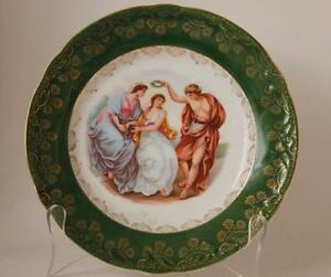 Antique German Porcelain Wall Plate Plaque Ancient Romans Kpm Mark C 1900