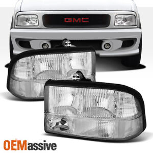 Fits 98 04 Gmc Sonoma Jimmy Oldsmobile Bravada Headlights Left Right Headlamps