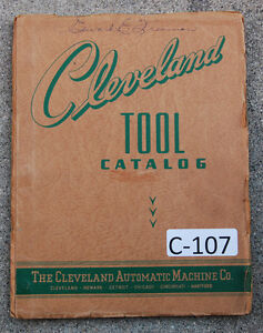 Cleveland Model A B Single Spindle Automatic Tool And Parts Lists Manual