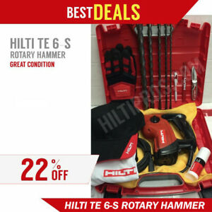Hilti Te 6 s Great Condition Free Hilti Hat Gloves Extras Fast Ship