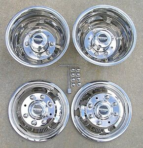 Ford F350 17 05 20 Pacific Dualies Dually Wheel Covers