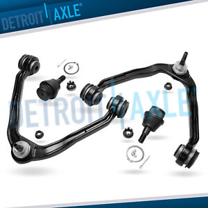 2 Front Upper Control Arms Lower Ball Joints Chevy Tahoe Silverado Sierra 1500