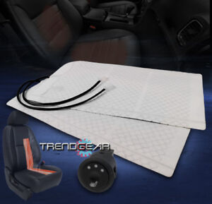 Universal Heated Seat Heater Pad Kit Round Hi Mid Low Switch Escort Accent Fx45
